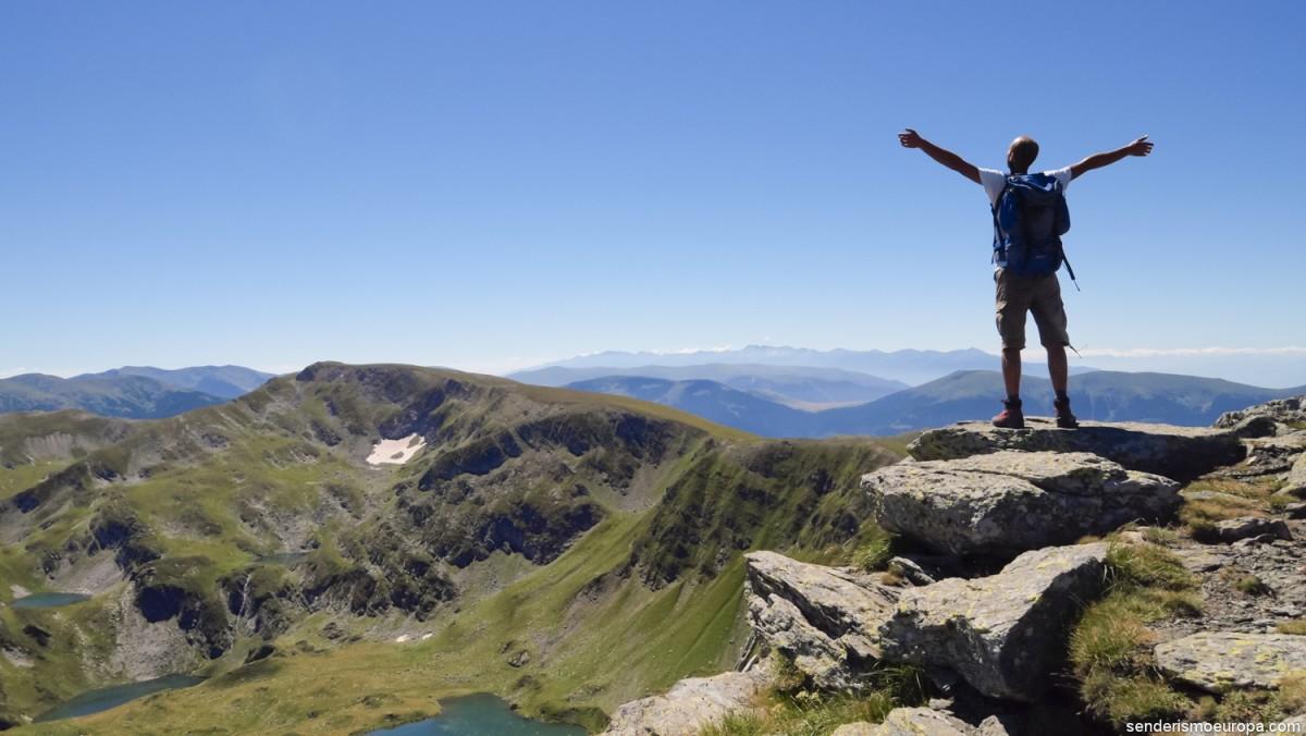 senderismo de alta montaña en el Parque Nacional de Pirin