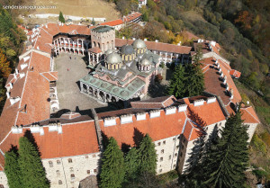 Rila Monastery from the air