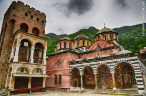 Medieval tower and frescoes Rila monastery