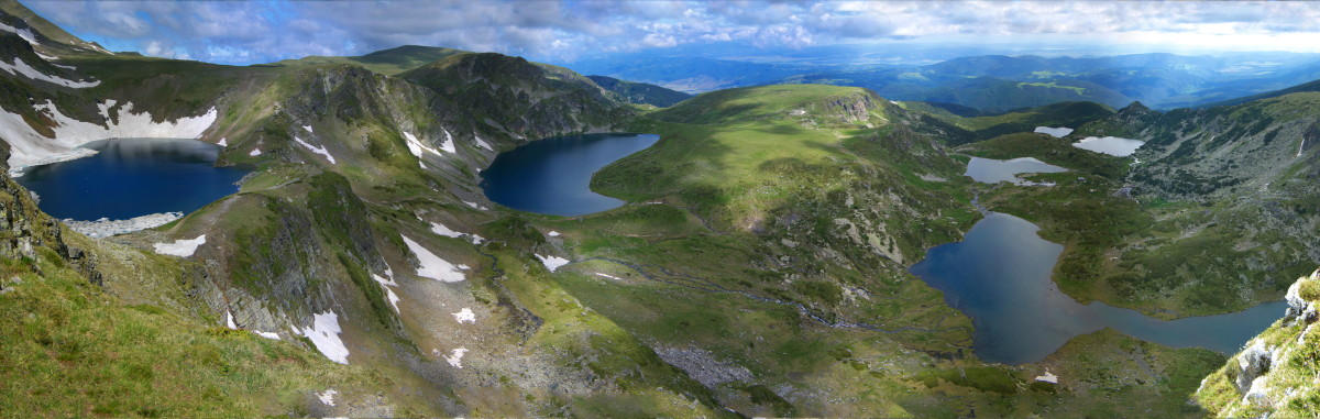 view 7 Rila lakes