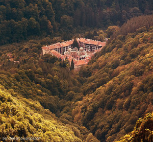 Rila Monastery in the mountains