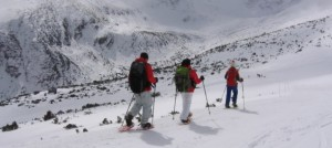 Snowshoeing route