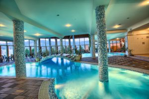 SPA in Velingrad (Bulgaria) overlooking the green mountains