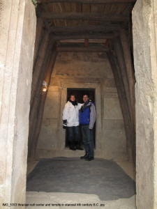 Entrada al mausoleu Traci subterrani, segle IV.